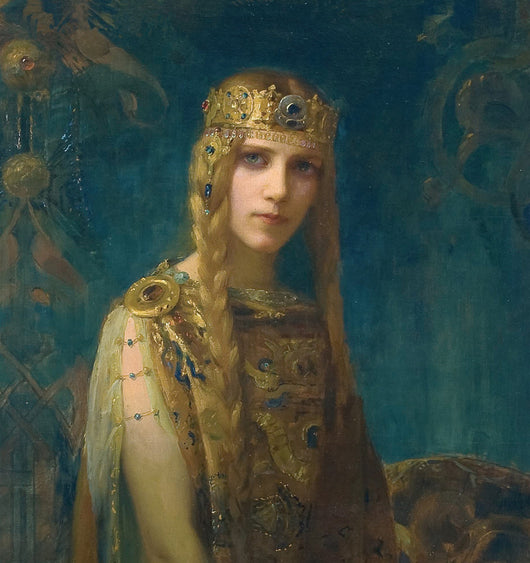 Myüz writing prompts writing course. Fantasy Queen with gold crown