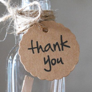 Cadeau label thank you | Knijpertjes.nl