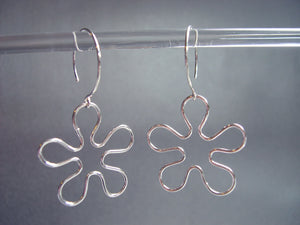 Dancing flower garden earrings