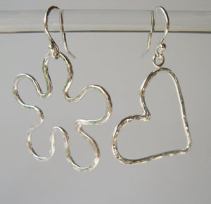 Heart 'n Flower earrings