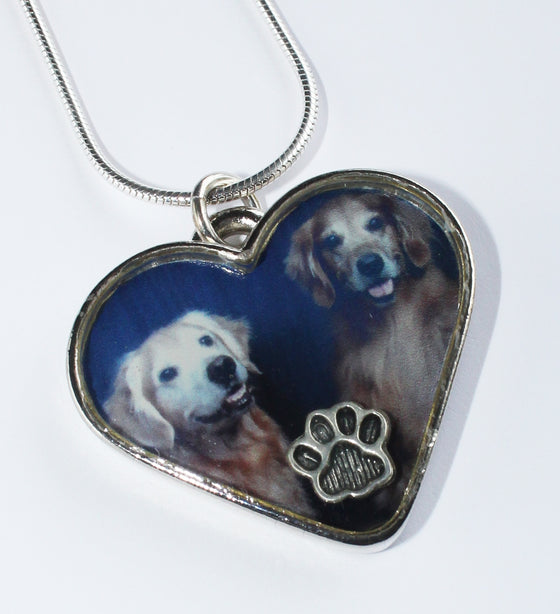 Photo pet memorial pendant — HEART