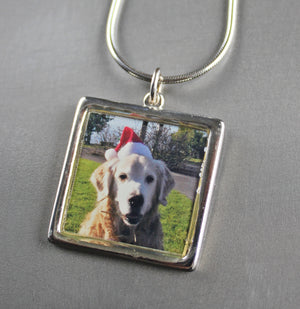 Photo pet memorial pendant — SQUARE