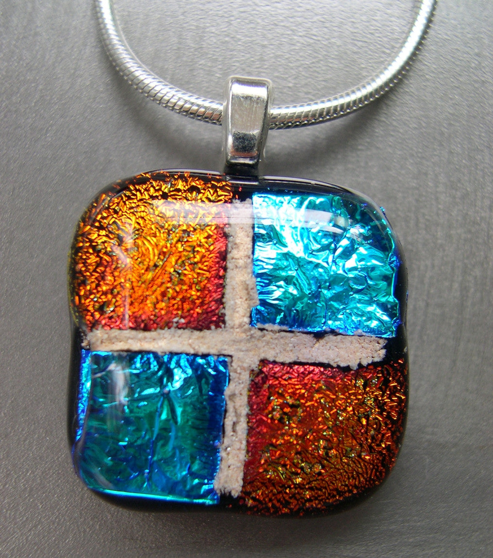 dichroic glass pendant fullxfull kiln unique necklace rainbow gift il listing fused handmade fired jewellery