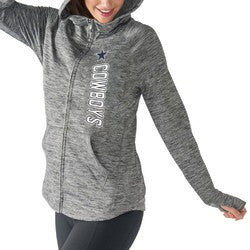 cheap for discount 92cf3 d2216 NFL Dallas Cowboys Women's Recovery Grey Full Zip Hoodie - L