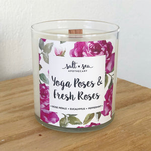 Yoga Poses & Fresh Roses • Soy Candle