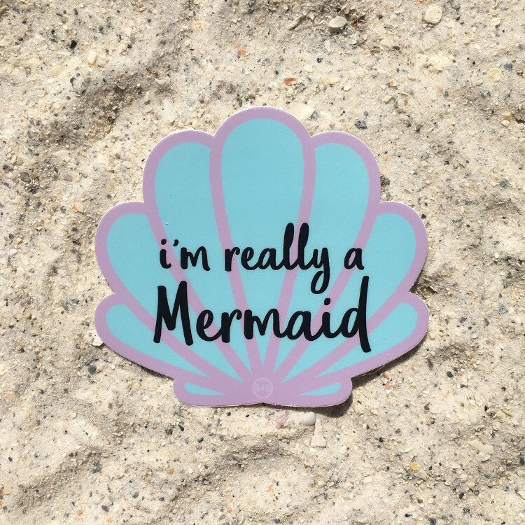 """I'm really a mermaid"" Decal"
