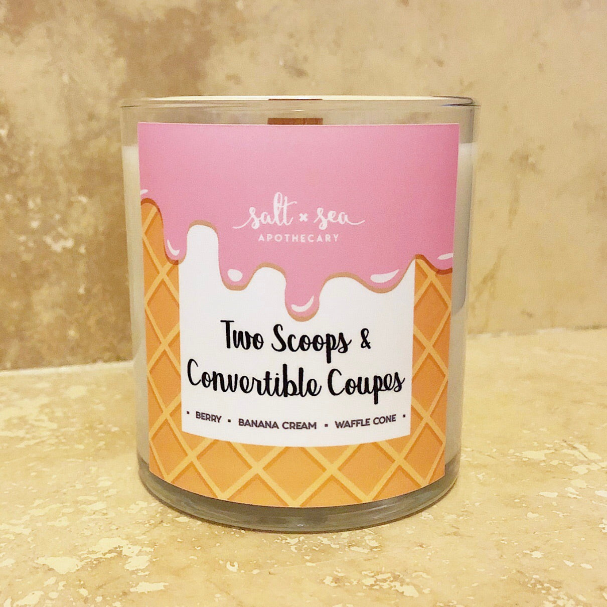 Two Scoops & Convertible Coupes (DISCONTINUED)  • Soy Candle