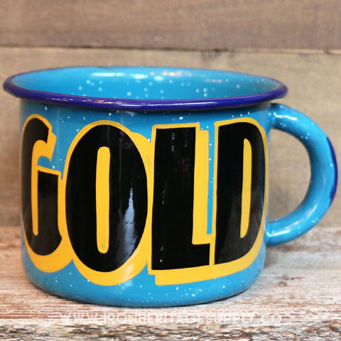 """Black Gold Mug"" by Brown Magic Paint Co."