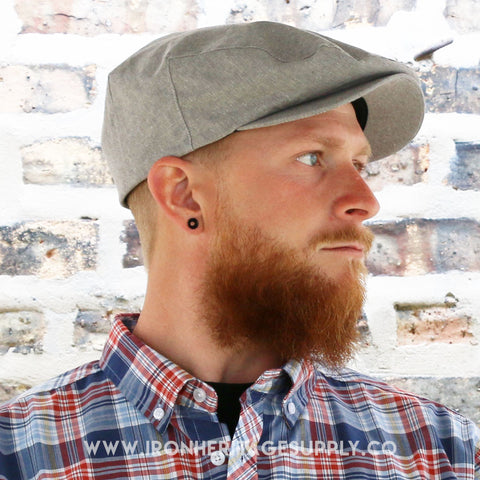 """Barrel Snap Cap"" (Grey Chambray) by Brixton"