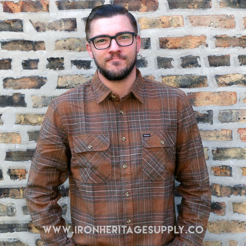 """Archie L/S"" (Copper/Brown) by Brixton"