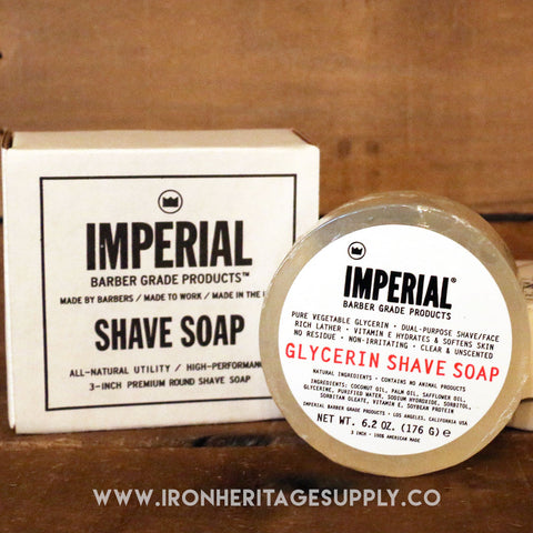 """Glycerine Shave Soap Puck"" by Imperial"