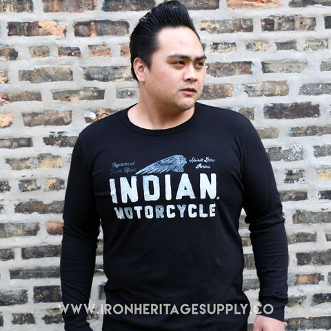 """Vintage Indian Motorcycles LS Shirt"" by Indian Motorcycle 1901"