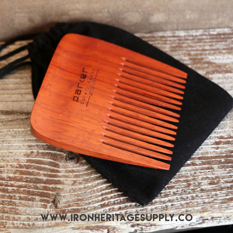 """Wide Tooth Coarse Beard Comb (Rosewood)"" by Parker"