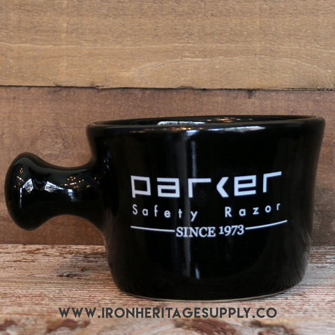 """Deluxe Stoneware Apothecary Style Shave Mug"" by Parker"