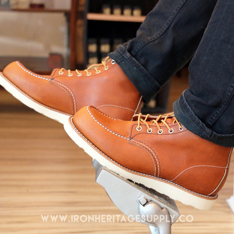 """Classic Moc Toe Style No. 875"" (Oro Legacy Leather) by Red Wing Shoes"