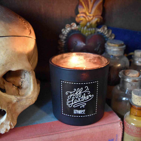 """Tuff Leather"" Candle by Straight to Hell"
