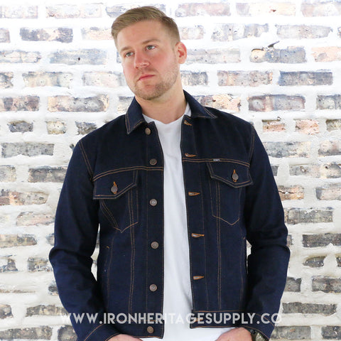 """Outsider Fast Gene"" Denim Jacket (Blue) by Straight to Hell"