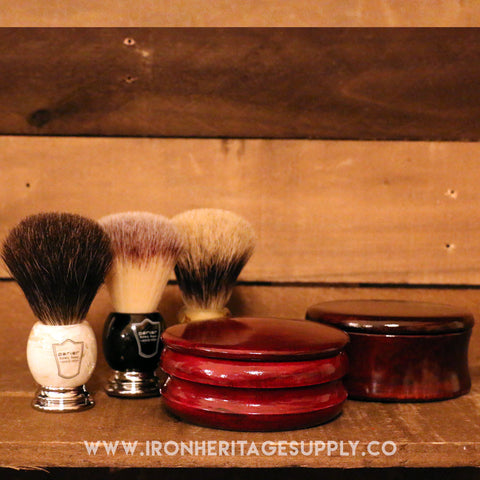 """Genuine Mango Wood Shave Soap Bowl"" by Parker"