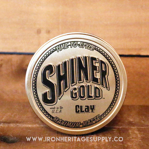"""Maximum Matte Clay Hold"" by Shiner Gold"