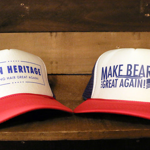 """Make Beards Great Again! Trucker Hat"" by Iron Heritage"