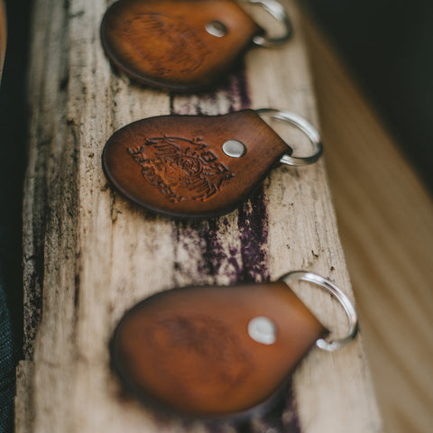"""Leather Key Fob"" by Iron Heritage"