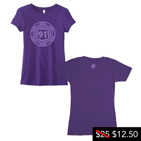 Ladies Circle Logo Purple Tee
