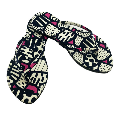 Chose Chic Kawaii Abstract Print Flip Flops for Women