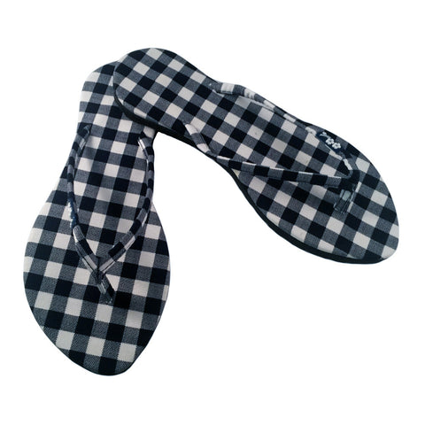 Gingham Flip Flops for Women