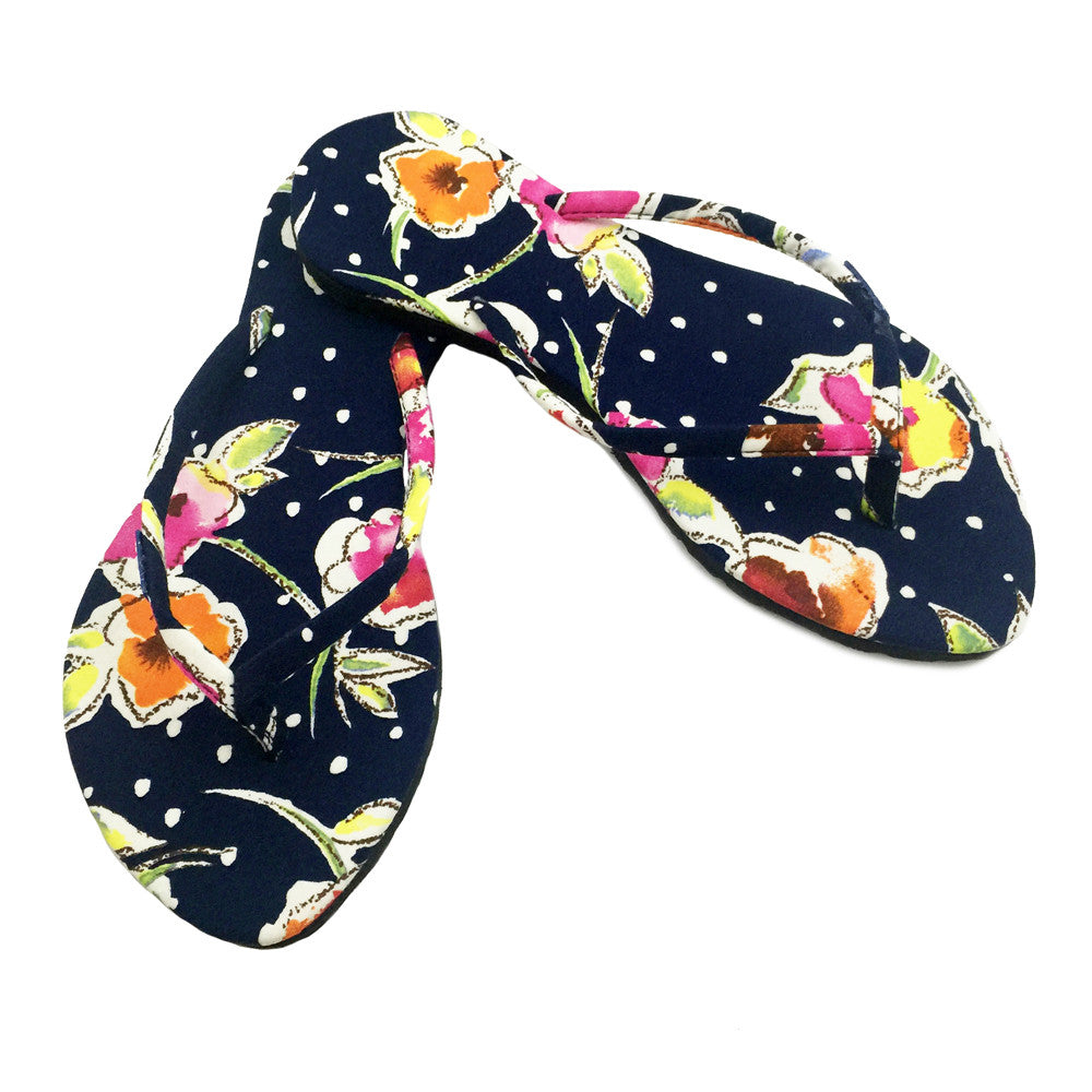 Chose Chic Kawaii Floral Print Flip Flops for Women