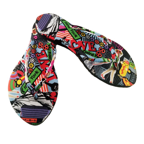 Kawaii Series- Slim City Girl Sandal Black / Multicolor
