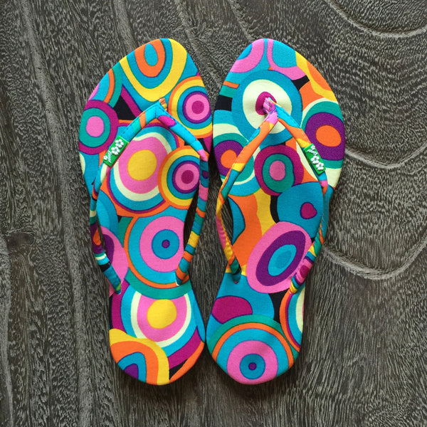 Chose Chic Kawaii Retro Print Thong Sandals Flip Flops for Women