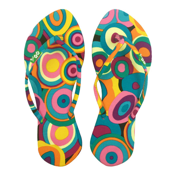Chose Chic Kawaii Retro Print Women Flip Flops