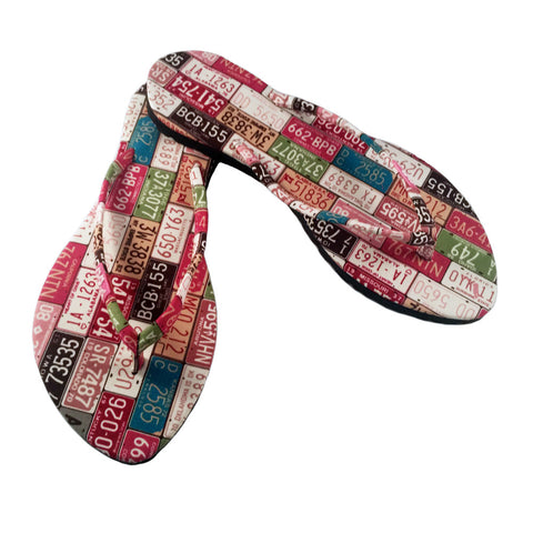 Kawaii Series- Slim States Tags Sandal Light Pink / Multicolor