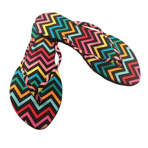 Kawaii Series- Slim Rainbow Zig Zag Sandal Multicolor