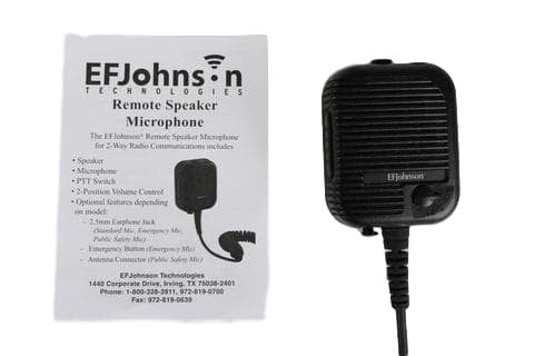 EF Johnson Speaker Mic 589-0015-057