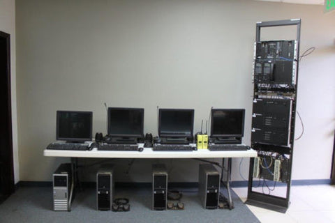 Motorola MCC5500 MCC 5500 Dispatch Consoles 3 Positions Analog Digital Centracom by Motorola - Infrastructure Type  - Used Radios Product Image