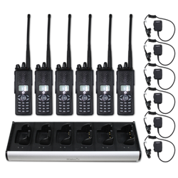 "EF Johnson VP900 ""Viking"" Dual Band (VHF & 700/800 MHz) Portable Radio ""6-Pack"""