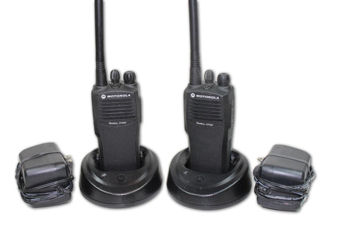 Pair of Motorola CP200 VHF (146-174MHz) Portable Radios (4ch)