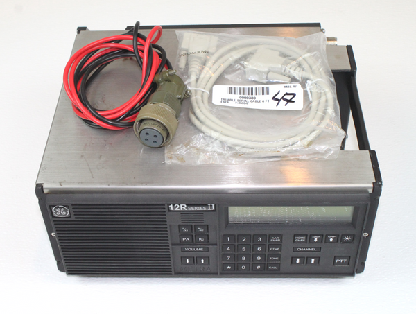 GE Quest Railroad Clean Cab VHF (148-174Mhz) Radio 12R Series II 50W