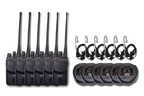 "Motorola BC-130 UHF Radio 6-Pack ""Security"" Kit"