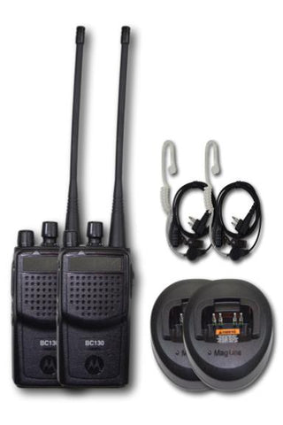 "Motorola BC-130 UHF Portable Radio 2-Pack ""SECURITY"" Kit"