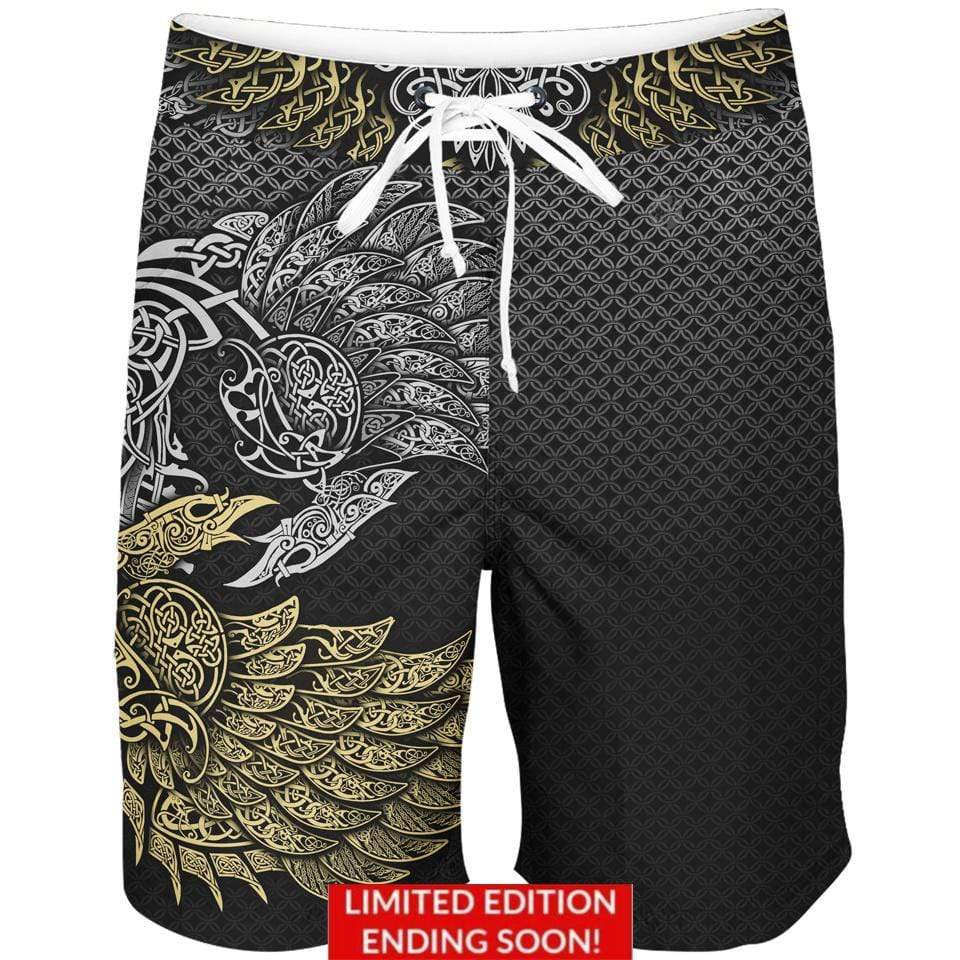 Boardshorts 30 - S / 18 Inch Ravens of Midgard Boardshorts-Limited