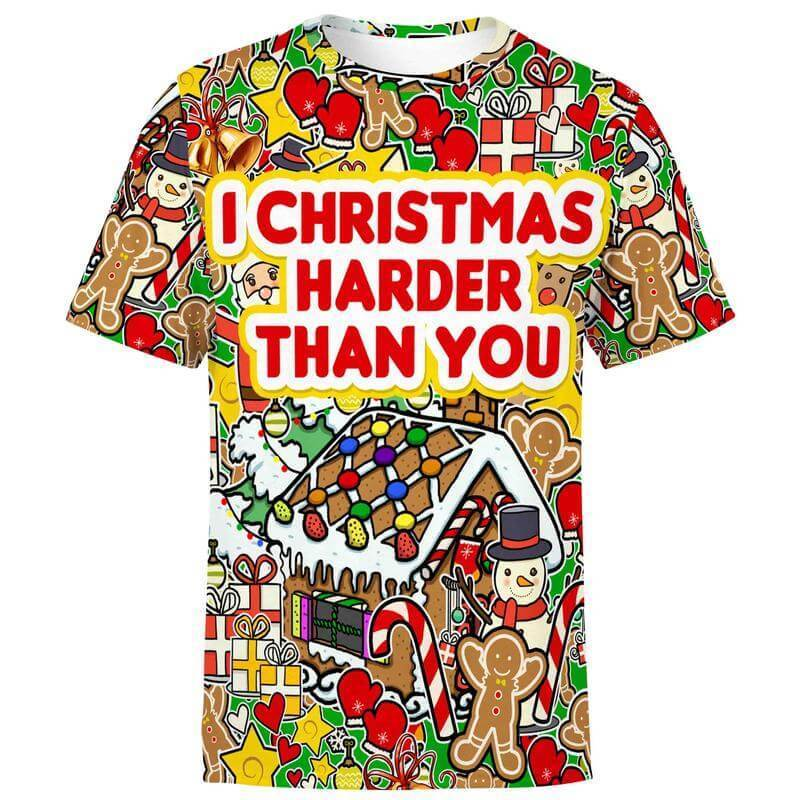 I Christmas Harder Christmas Shirt