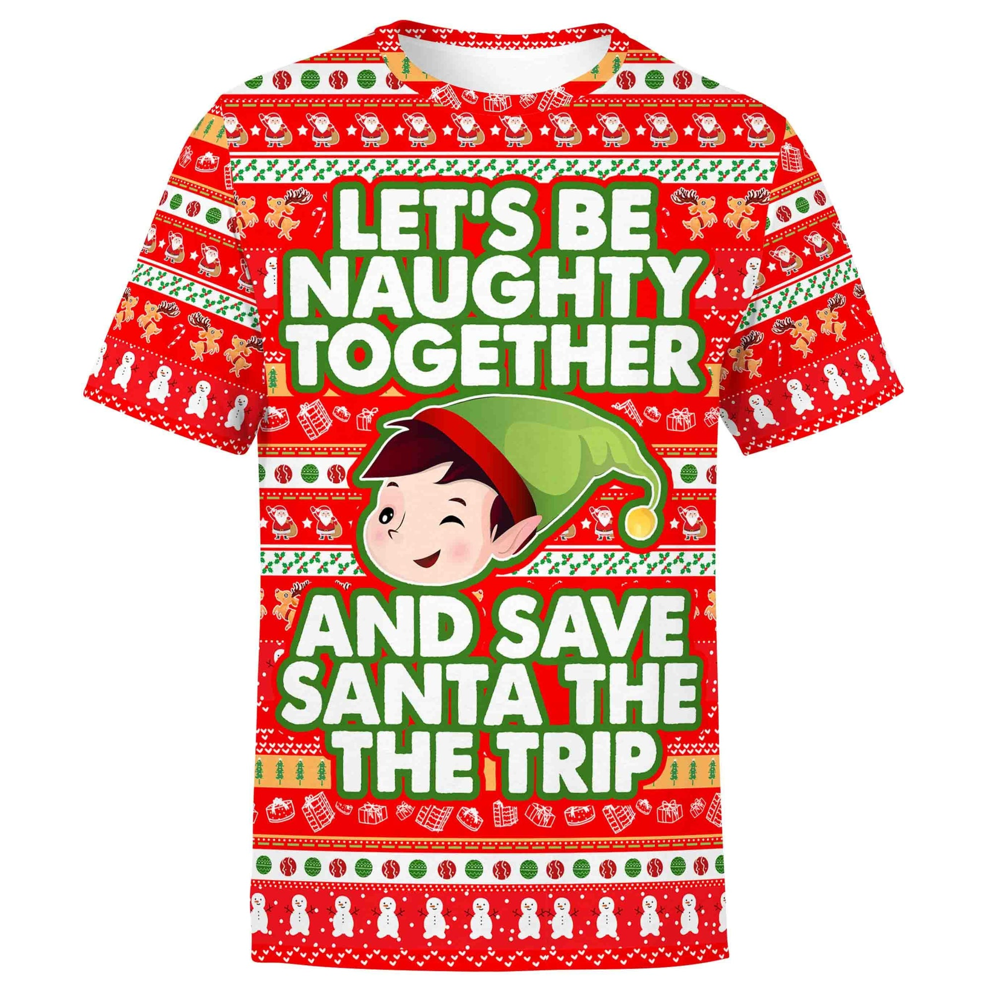 Lets Be Naughty Christmas Shirt