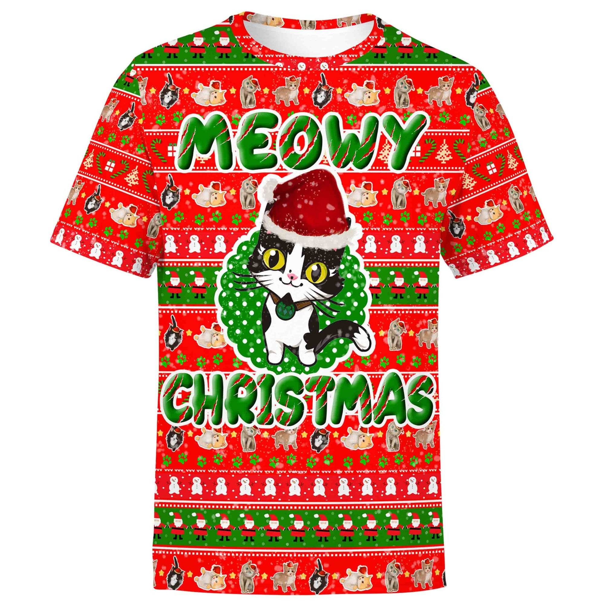Christmas Shirt S / V1 Meowy Christmas Shirt MEOWY-CHRISTMAS_T-SHIRT-3.0_SM