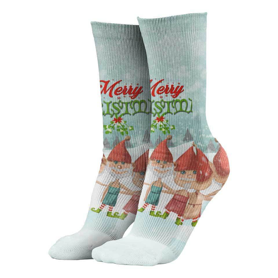 Naughty Elves Christmas Socks