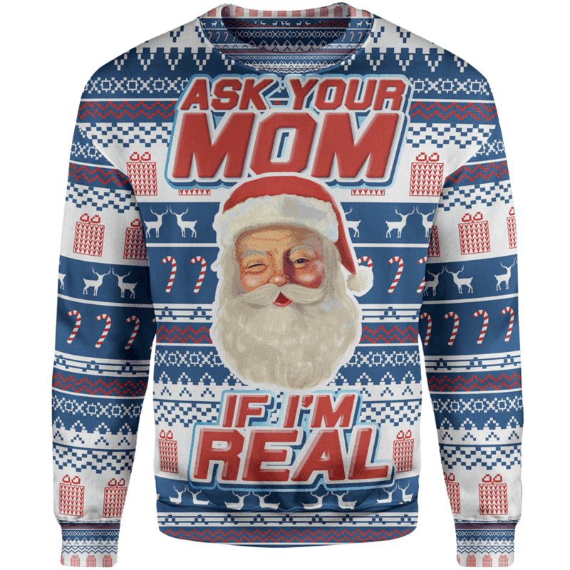 Ask Your Mom Christmas Sweater