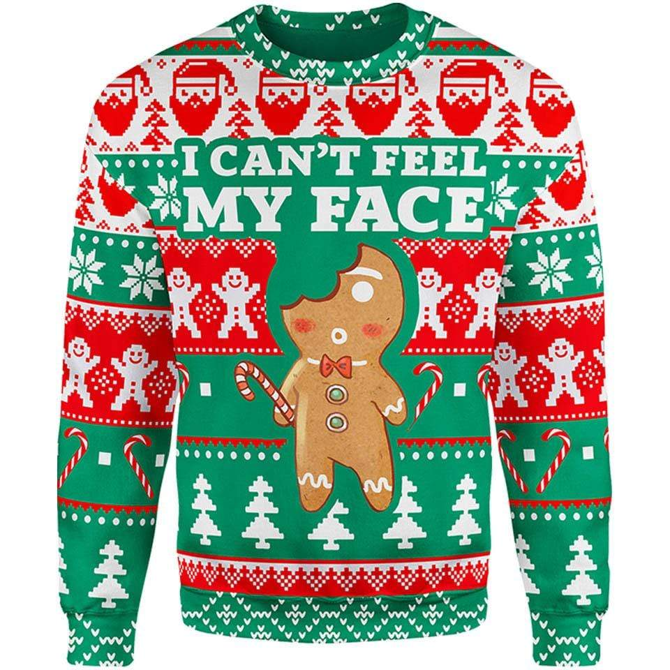 Can't Feel My Face Christmas Sweater