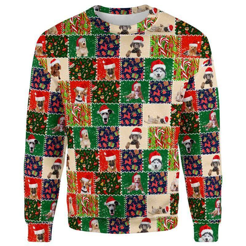 Christmas Sweater S Dogs Life Christmas Sweater DOG-QUILT_SWEATSHIRT-3.0_SM