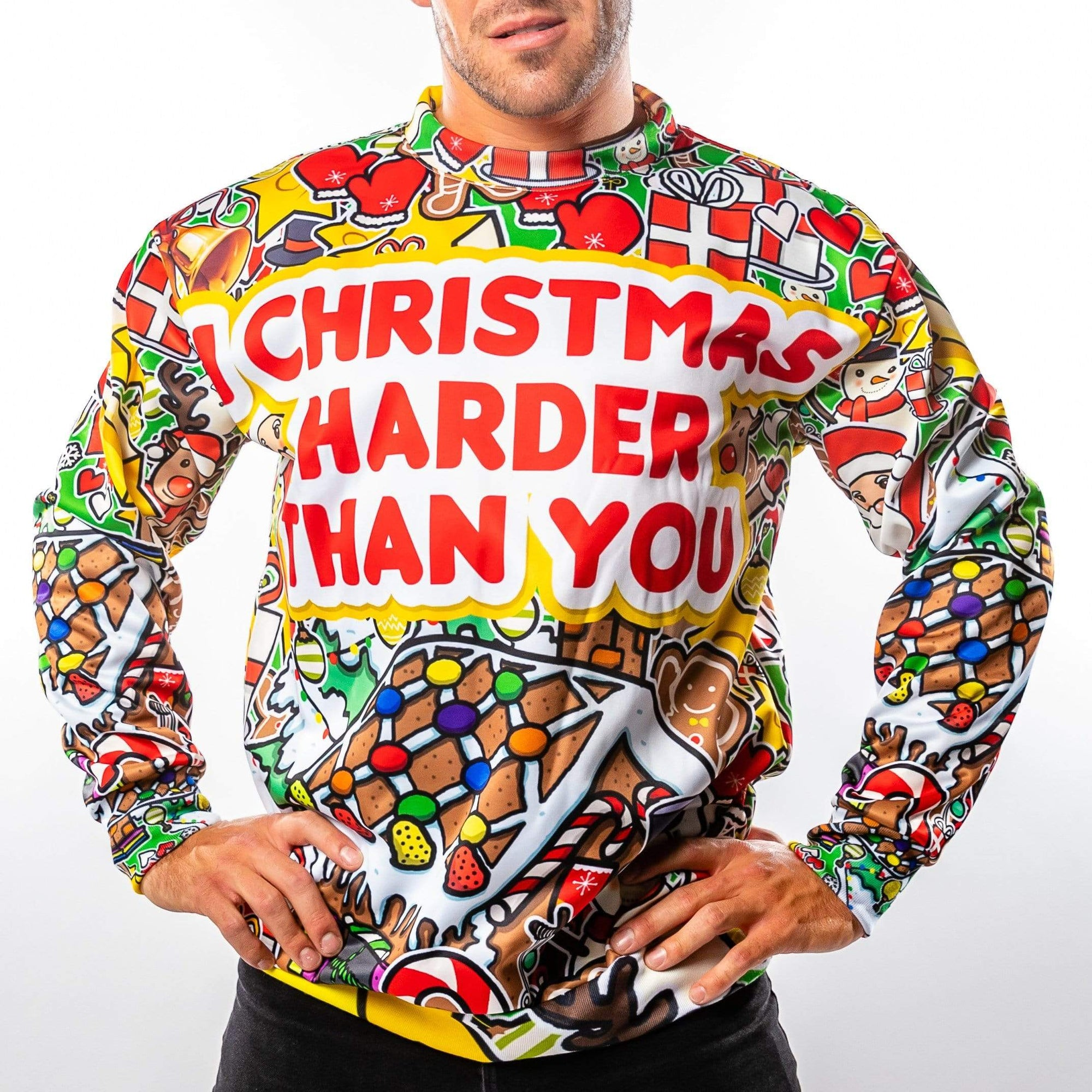 I Christmas Harder Christmas Sweater